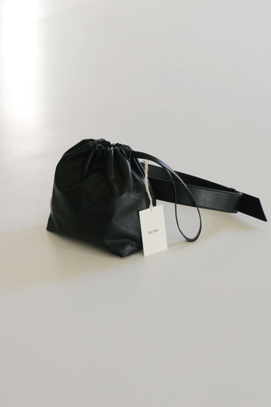 FOR HER 3 WAY LAMBSKIN BAG - BLACK