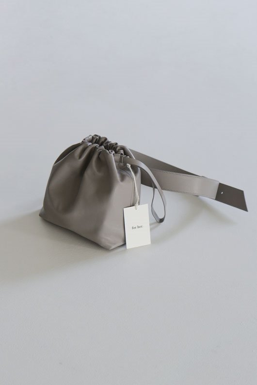 FOR HER 3 WAY LAMBSKIN BAG - GRAY